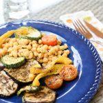 Garbanzos con verduras al horno
